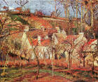 Red Roofs, Corner of a Village, Winter; Le Verger, Cotes St-Denis a Pontoise: Camille Pissarro