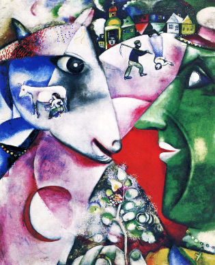 I and the Village, Marc Chagall