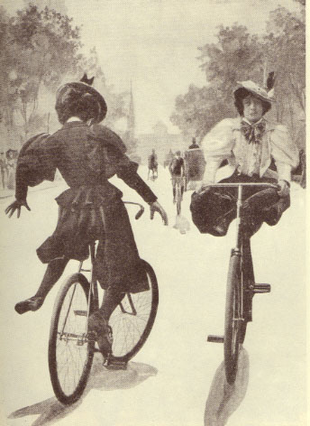 Bicyclists in bloomers