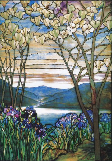 Magnolias and Irises Window