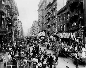 A Lower East Side street, c 1899