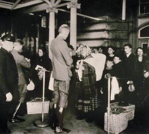 Doctor Examining Immigrants at Ellis Island, 1904